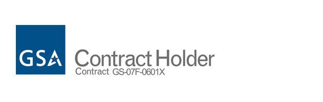 GSA contract holder; no. GS-07F-0601X