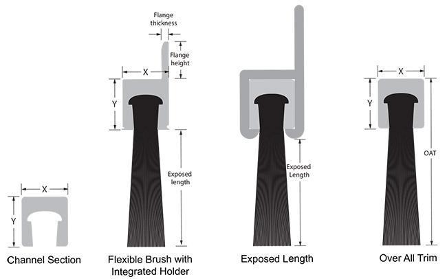 Flexible Strip Brush Metric Version Sealeze A Jason